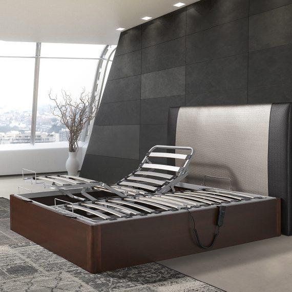 Canape madera duo Estambul articulado + cabezal Paris